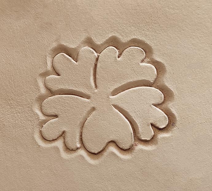 Floral em bronze para prensa 50x45