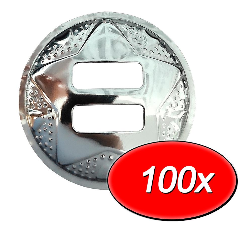 KIT com 100 margarida de inox para Baldrana/Calça de Couro