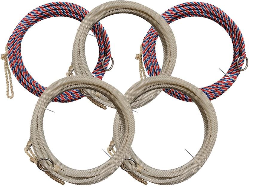 Kit com 5 Cordas Chumbadas 15 metros Cores Variadas