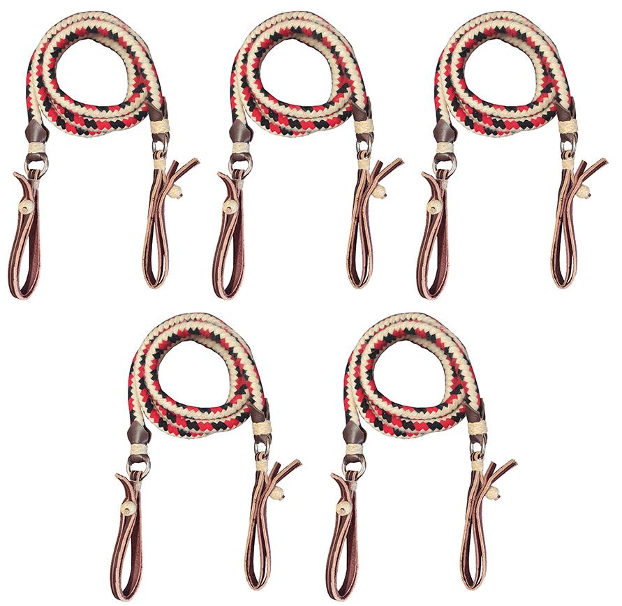 kit com 5 Redeas de Lã Cores Variadas