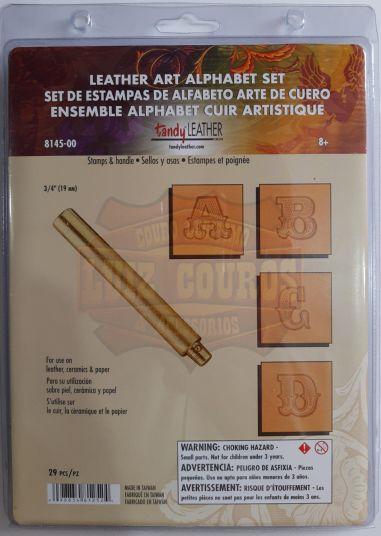 Letreiro/ Alfabeto / Abecedário Para Bordar Em Couro 3/4 Furadinho