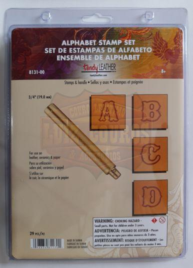 Letreiro/ Alfabeto / Abecedário Para Bordar Em Couro 3/4 Liso.