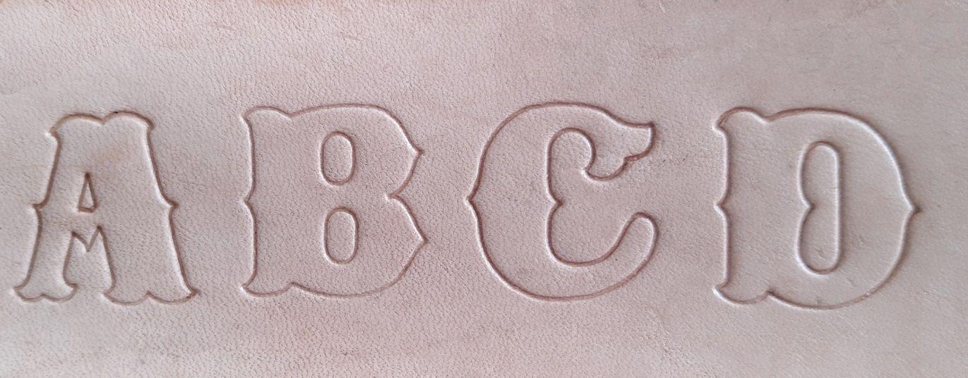 Letreiro/alfabeto/abecedário Para Couro 1 Polegada 2.54cm.