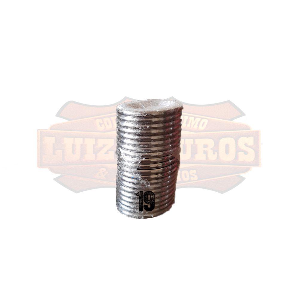 Pacote de Argola Inox Nº 19 Chata Pacote C/20 Unidades