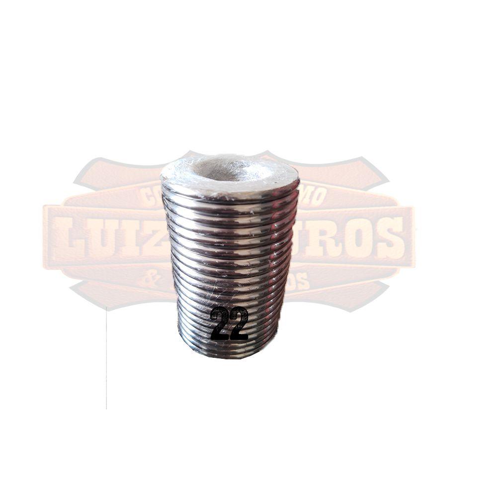 Pacote de Argola Inox Nº 22 Chata Pacote C/20 Unidades