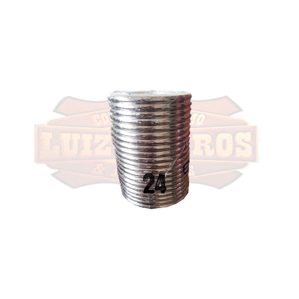 Pacote de Argola Inox Nº 24 Chata Pacote C/20 Unidades
