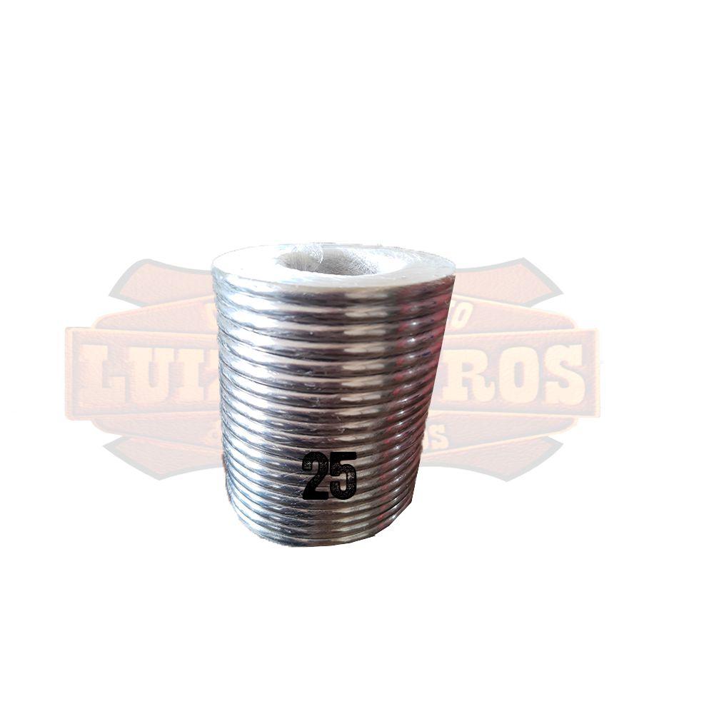 Pacote de Argola Inox Nº 25 Chata Pacote C/20 Unidades