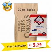 Farinha de Trigo c/ Fermento Três Coroas kg (Fardo c/ 20)