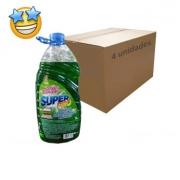 Lava Roupas Líquido Verde SuperPro 3l (Caixa c/ 4)