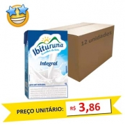 Leite Integral UHT Ibituruna (Caixa c/ 12)