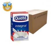 Leite Integral UHT Quatá (Caixa c/ 12)