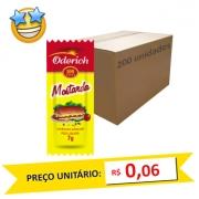 Mostarda em Sachê Oderich 7g (Caixa c/ 200)