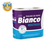Papel toalha Mili Bianco c/ 2rolos (Fardo c/12)