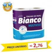 Toalha de Papel Mili Bianco 2x55 fls (Fardo c/12)