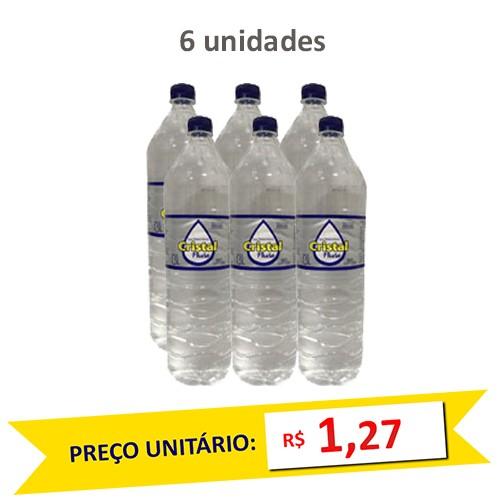 Água Mineral Natural Cristal Phura 1,5l (Pack c/ 6)  - Grupo Borges Atacadista