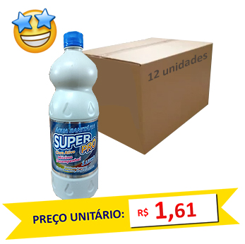 Água Sanitária SuperPro 1l (Caixa c/ 12)
