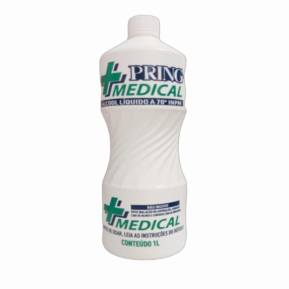 Álcool líquido 70° Pring 1l (caixa c/12)