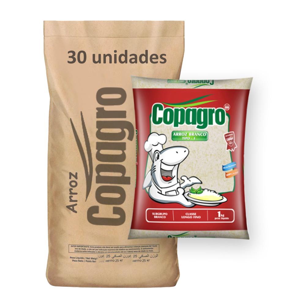 Arroz Parb. Tipo 1 Copagro kg (Fardo 30kg)  - Grupo Borges Atacadista