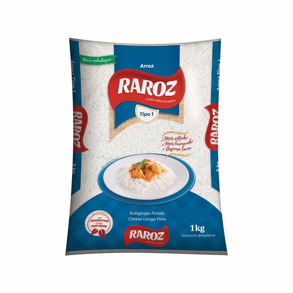 Arroz branco Raroz 1kg (fardo c/30)