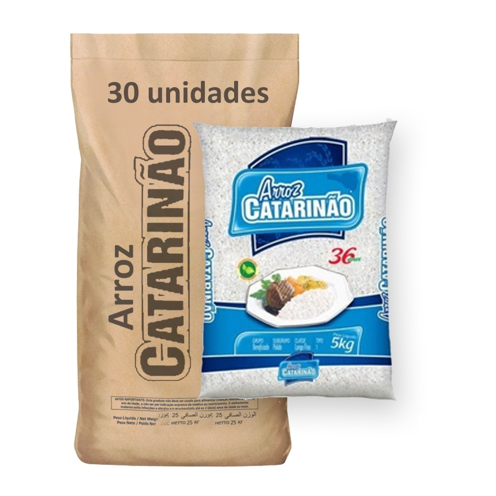 Arroz Branco Tipo 1 Catarinão kg (Fardo 30kg)  - Grupo Borges Atacadista
