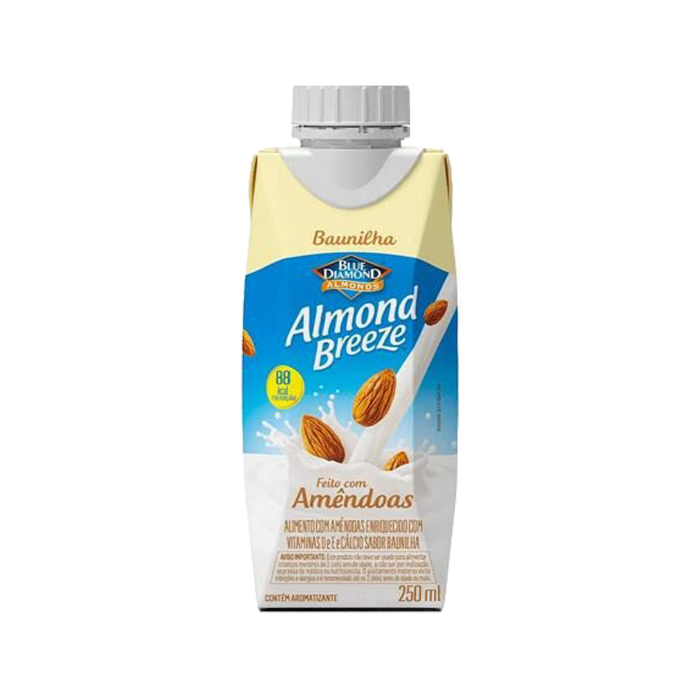 Bebida láctea  Almond Breeze 250ml Baunilha (caixa c/12)