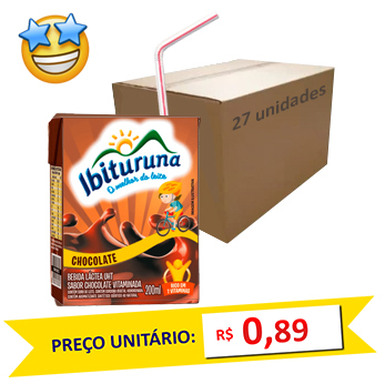 Bebida Láctea Chocolate Ibituruna 200ml (Caixa c/ 27)