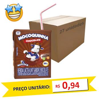 Bebida Láctea Chocolate Mococa 200ml (Caixa c/ 27)
