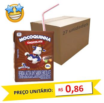 Bebida Láctea Chocolate Mococa 200ml (Caixa c/ 27)  - Grupo Borges Atacadista