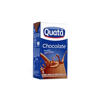 Bebida Láctea Chocolate (Pronto p/ Beber) Quatá 1l  - Grupo Borges Atacadista