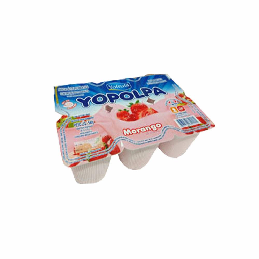Bebida láctea Yopolpa 540g  morango (Caixa c/ 12)