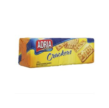 Biscoito Cream Cracker Adria 200g  - Grupo Borges Atacadista