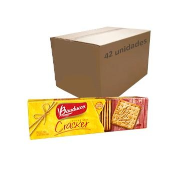 Biscoito Cream Cracker Bauducco 200g (Caixa c/42)  - Grupo Borges Atacadista