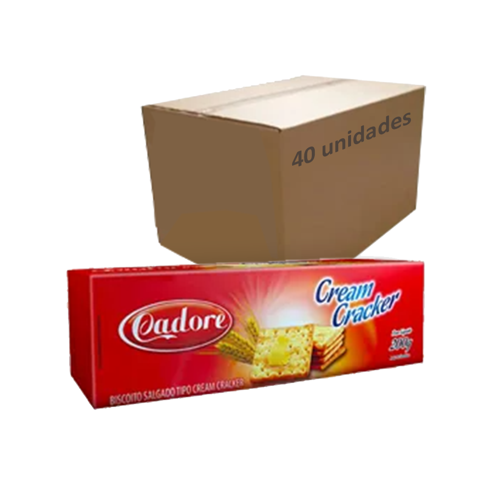 Biscoito Cream Cracker Cadore 200g (Caixa c/ 40)  - Grupo Borges Atacadista