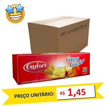 Biscoito Cream Cracker Cadore 200g (Caixa c/ 40)