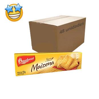 Biscoito Maizena Bauducco 170g (Caixa c/ 48)