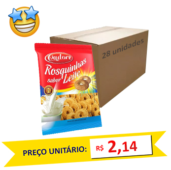 Biscoito Rosquinha Leite Cadore 350g (Caixa c/ 28)