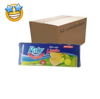 Biscoito Wafer Limão Paty 100g (Caixa c/ 52)