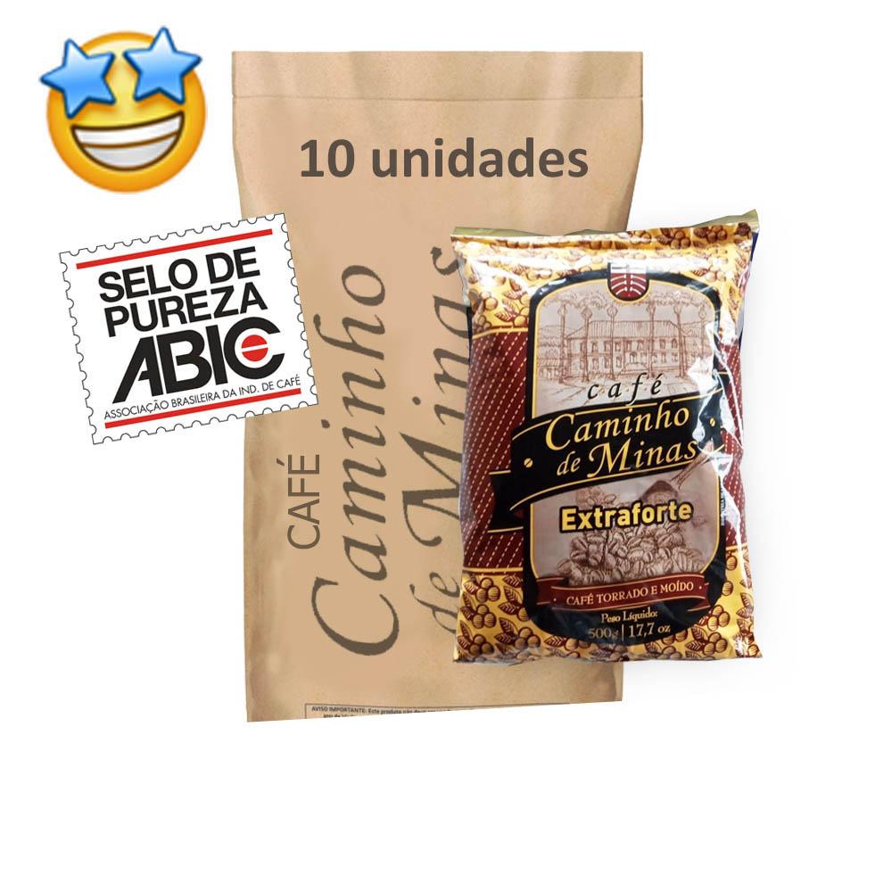 Café Caminho de Minas 500g (Fardo c/ 10)  - Grupo Borges Atacadista