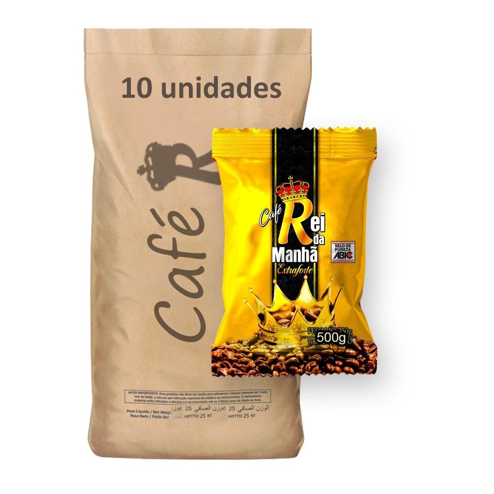Café Rei da Manhã Extra Forte 500g (Fardo 5kg)  - Grupo Borges Atacadista
