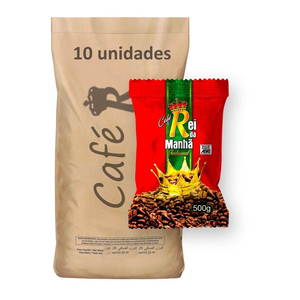 Café Rei da Manhã Tradicional 500g (Fardo 5kg)  - Grupo Borges Atacadista