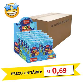 Mini Bolos Baunilha Romanato 30g (Caixa c/ 48)
