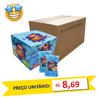 Caixa c/ 12 Mini Bolos Baunilha Romanato 30g (Caixa c/4)  - Grupo Borges Atacadista