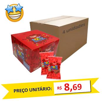 Caixa c/ 12 Mini Bolos Chocolate Romanato 30g (Caixa c/4)
