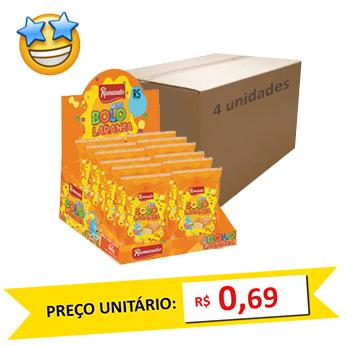 Mini Bolos Laranja Romanato 30g (Caixa c/ 48)