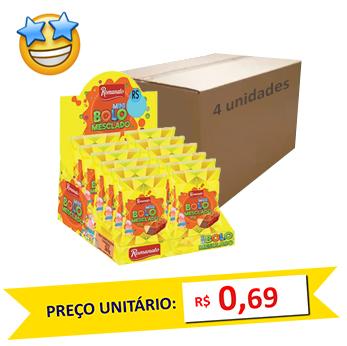 Mini Bolos Mesclado Romanato 30g (Caixa c/ 48)
