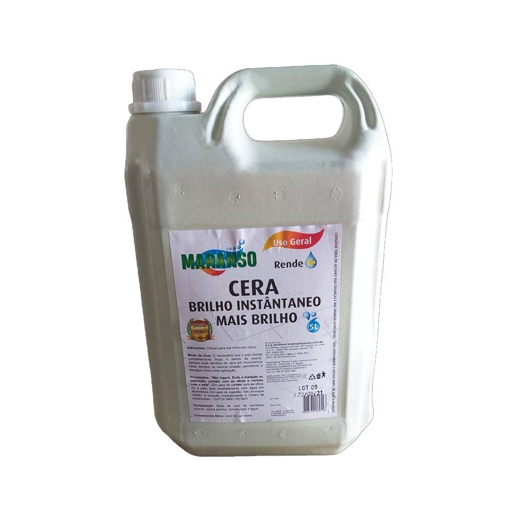 Cera líquida Maranso Mais Brilho 5L (CAIXA C/4)