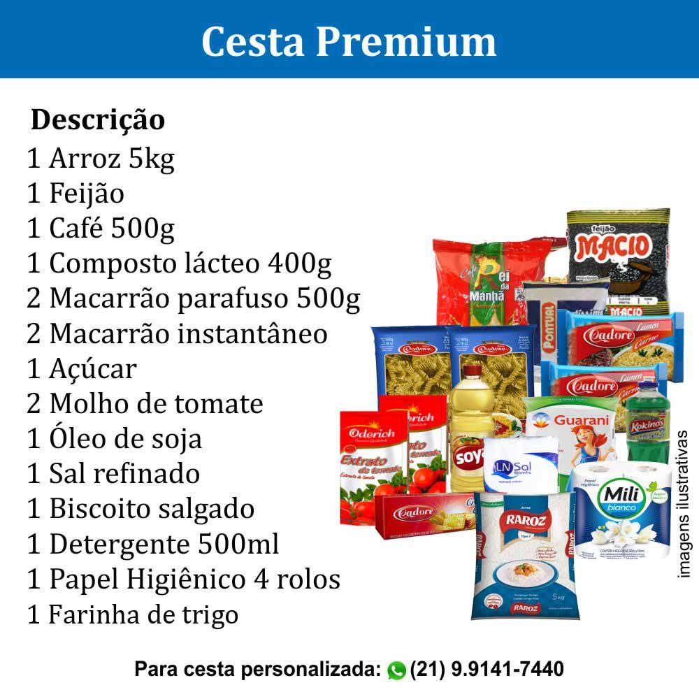 Cesta Premium com 17 itens