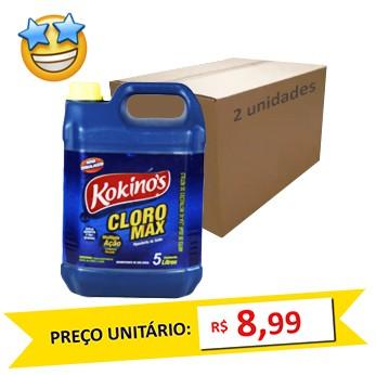 Cloro Max Kokinos 5l (Caixa c/ 2)