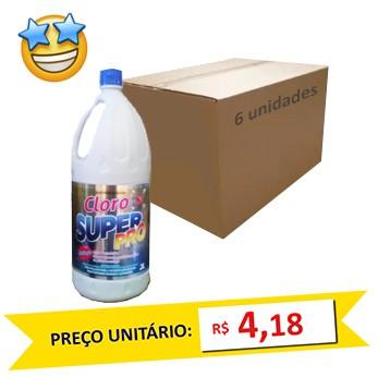 Cloro SuperPro 2l (Caixa c/ 6)  - Grupo Borges Atacadista