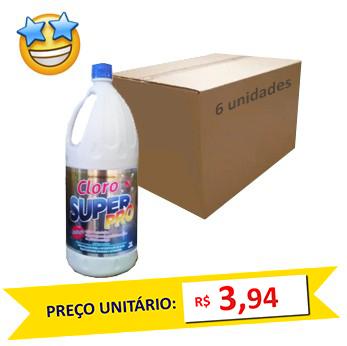 Cloro SuperPro 2l (Caixa c/ 6)